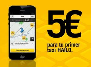 Hailo offre 5€ pour votre prochain trajet en taxi