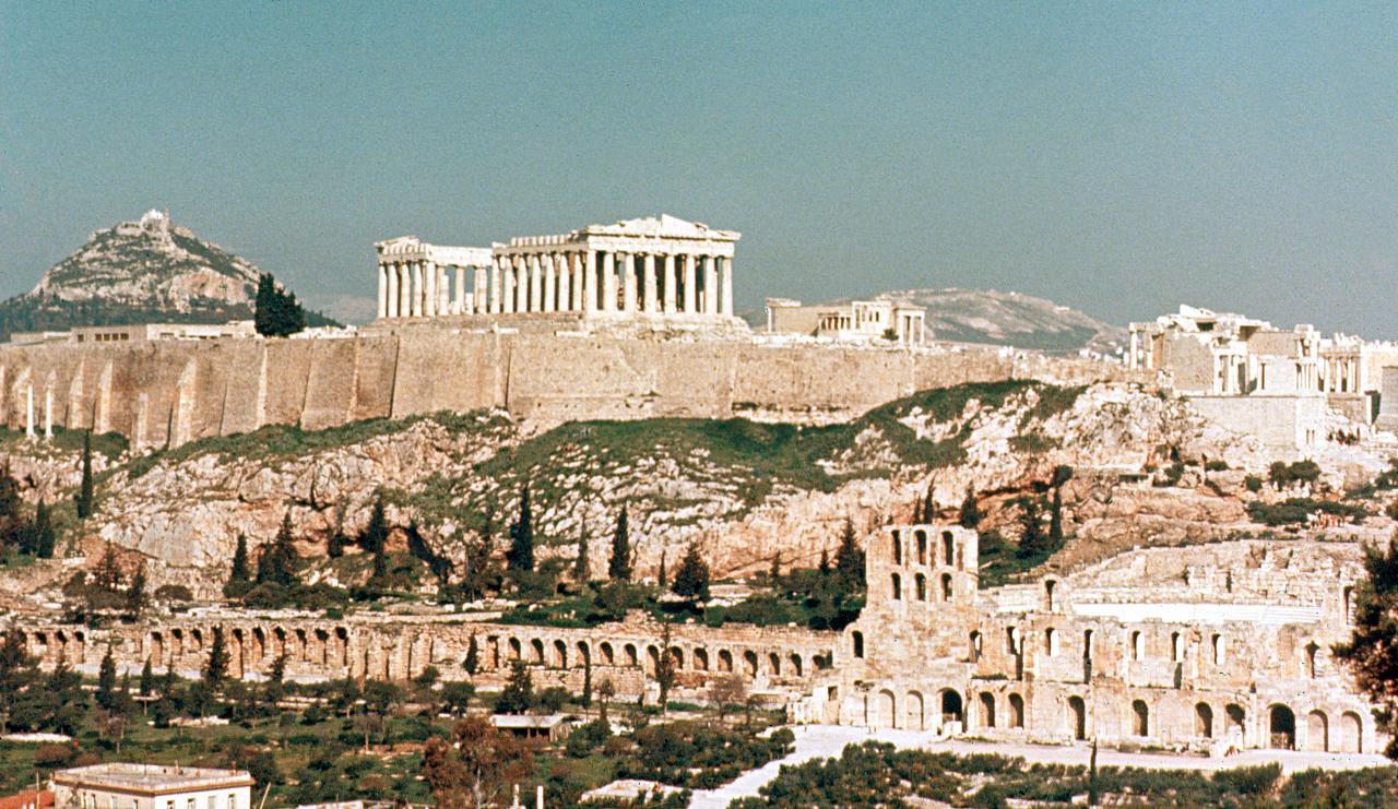 Meilleures vues de l'Acropole d'Athènes