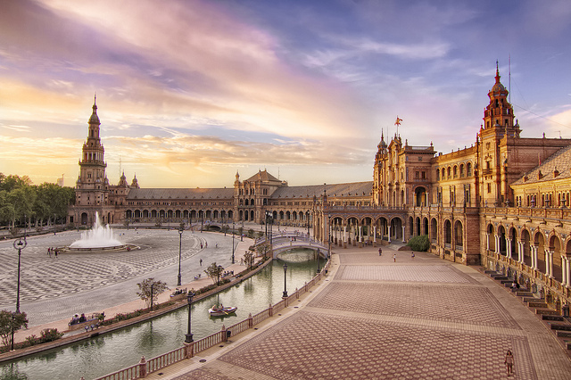 Tous les détails de la Place d'Espagne de Séville